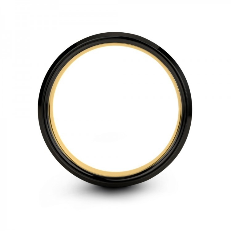 Dark Knight Yellow Gold 8mm Unique Wedding Band