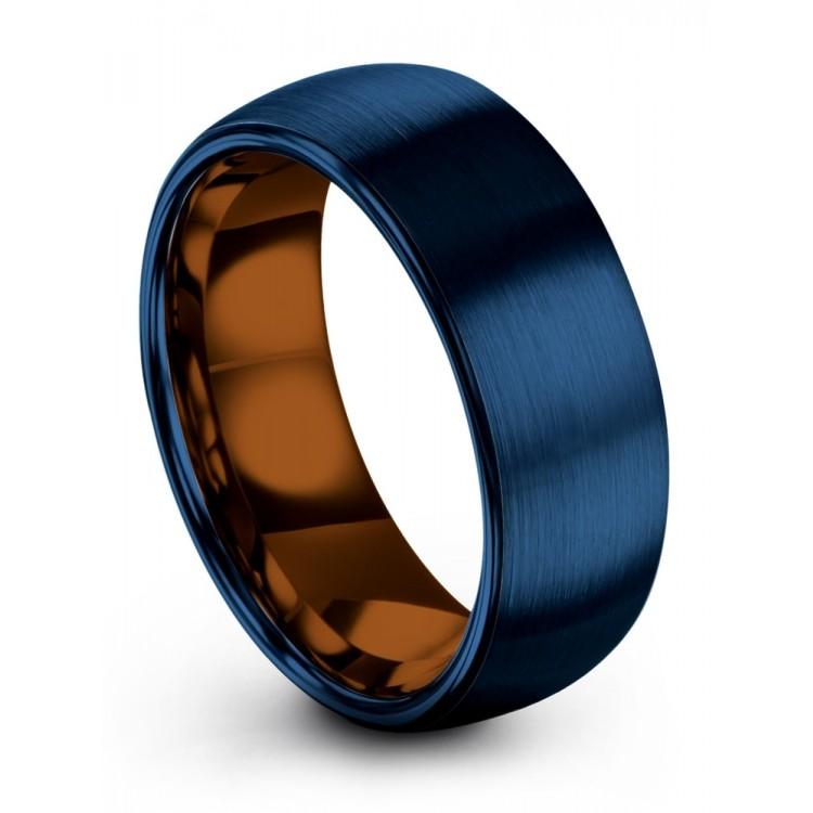 Empire Blue Copper Sun 8mm Wedding Band