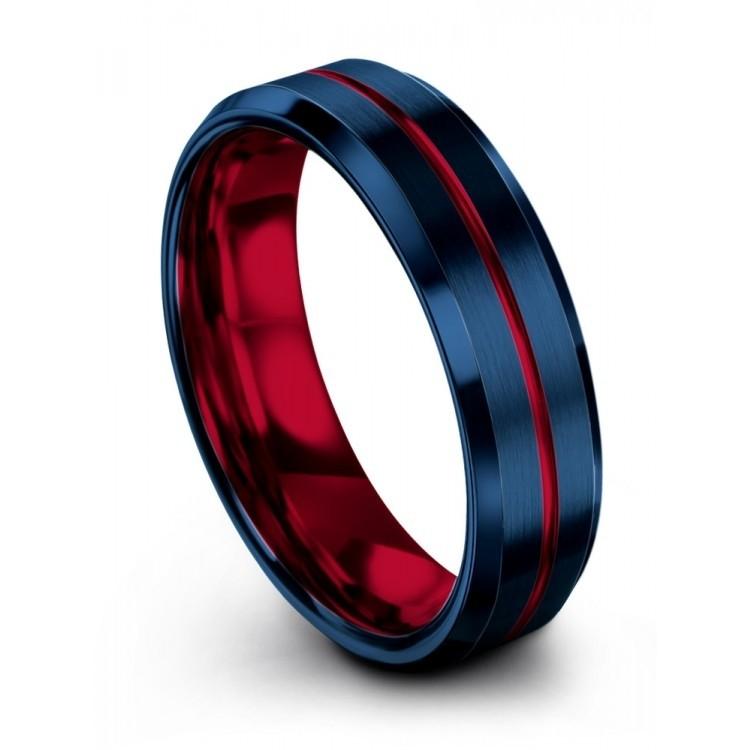 Empire Blue Crimson Allure 6mm Latest Wedding Ring