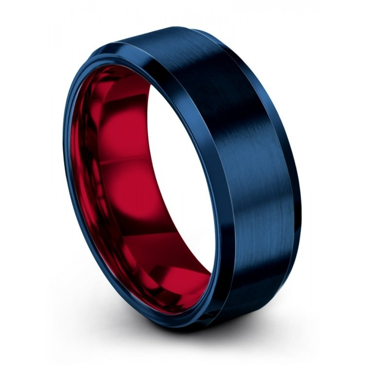 Empire Blue Crimson Allure 8mm Latest Wedding Ring