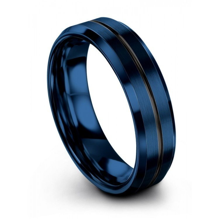 Empire Blue Dark Knight 6mm Latest Wedding Ring