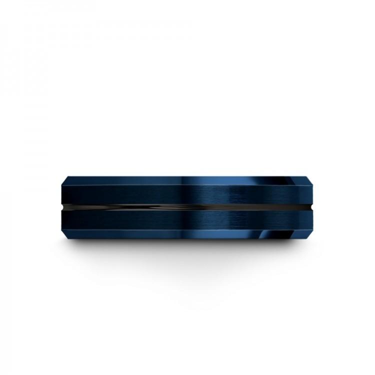 Empire Blue Dark Knight 6mm Latest Wedding Rings