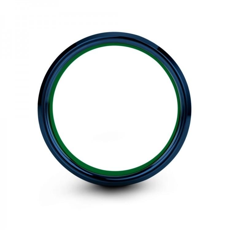 Empire Blue Emerald Zing 6mm Latest Wedding Band