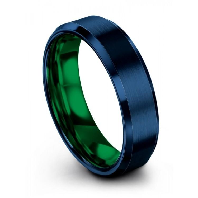 Empire Blue Emerald Zing 6mm Latest Wedding Ring