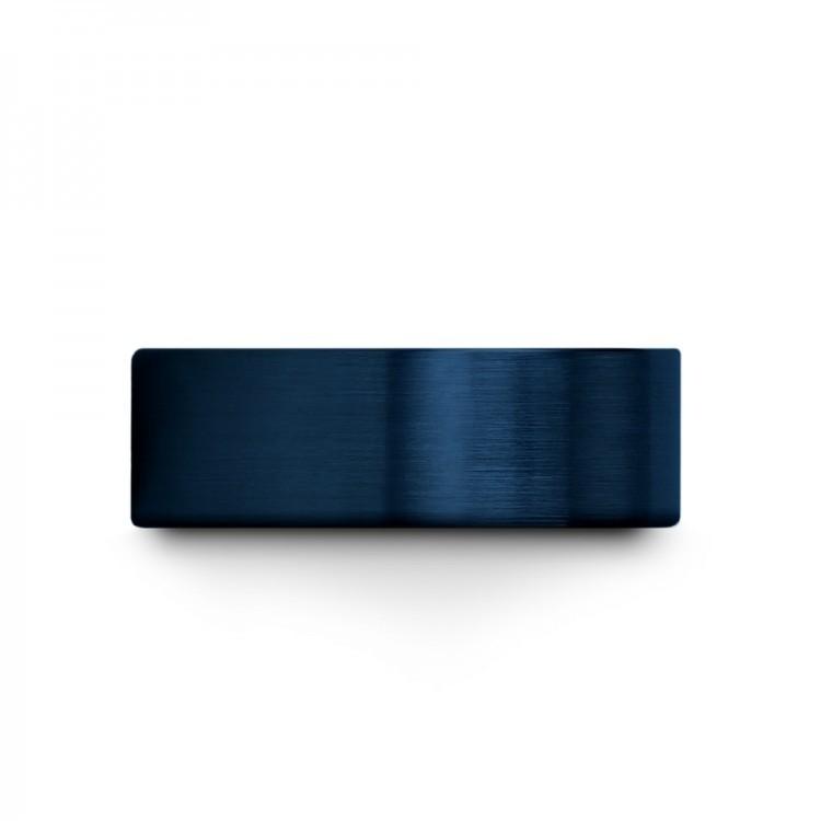 Empire Blue Galena Gray Aqua Teal 8mm Unique Wedding Ring