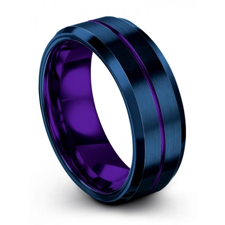 Empire Blue Royal Bliss 8mm Fancy Women Wedding Rings
