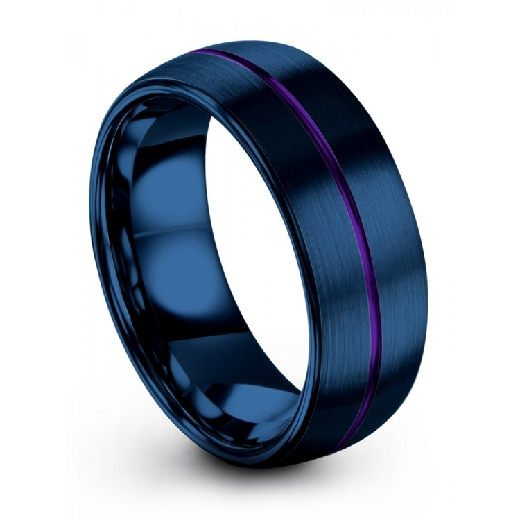 Empire Blue Royal Bliss 8mm Latest Wedding Band