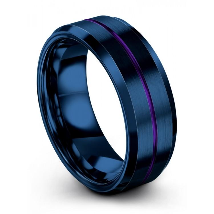 Empire Blue Royal Bliss 8mm Wedding Ring