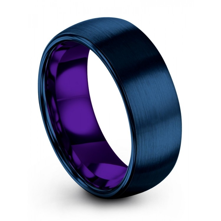 Empire Blue Royal Bliss 8mm Wedding Rings