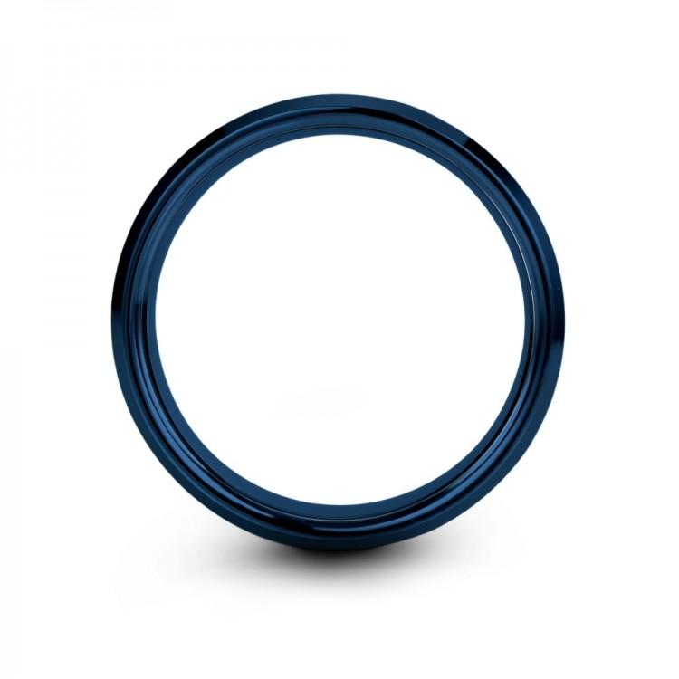 Empire Blue Royal Bliss 8mm Women Wedding Ring
