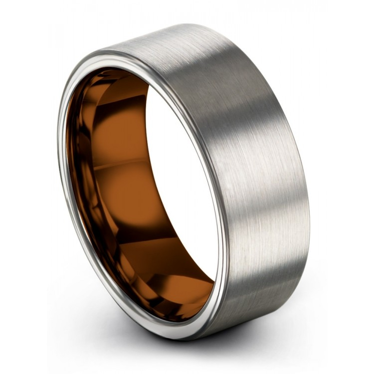 Galena Gray Copper Sun 8mm Fancy Wedding Ring