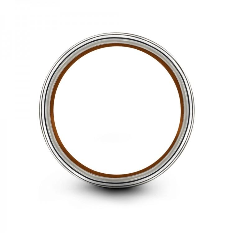 Galena Gray Copper Sun 8mm Fancy Women Wedding Ring