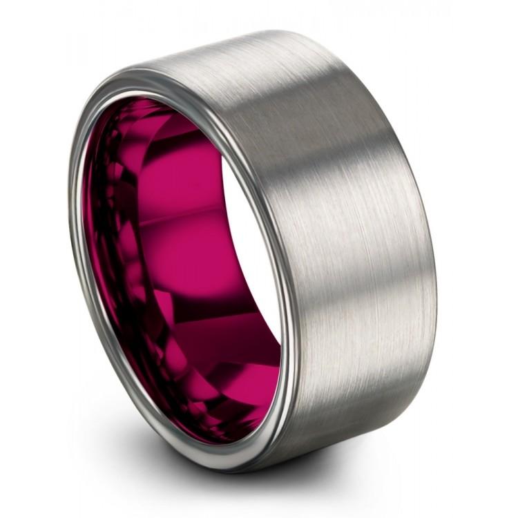 Galena Gray Cosmic Flare 10mm Fancy Wedding Ring