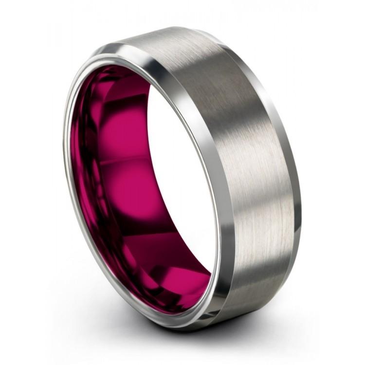 Galena Gray Cosmic Flare 8mm Fancy Wedding Ring