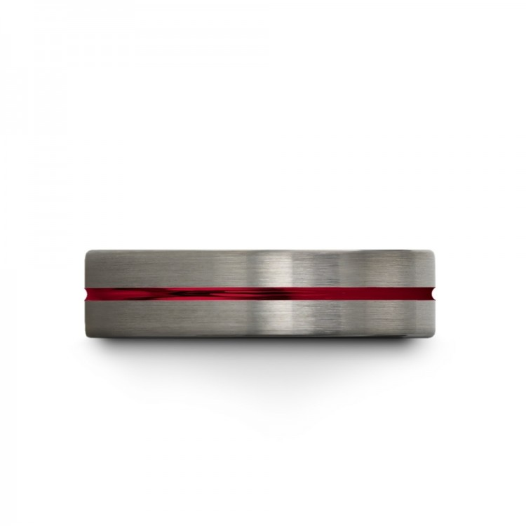 Galena Gray Crimson Allure 6mm Cheap Wedding Ring