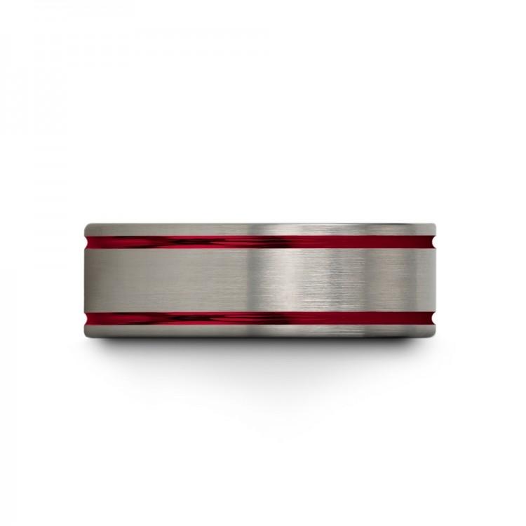 Galena Gray Crimson Allure 8mm Cheap Wedding Ring
