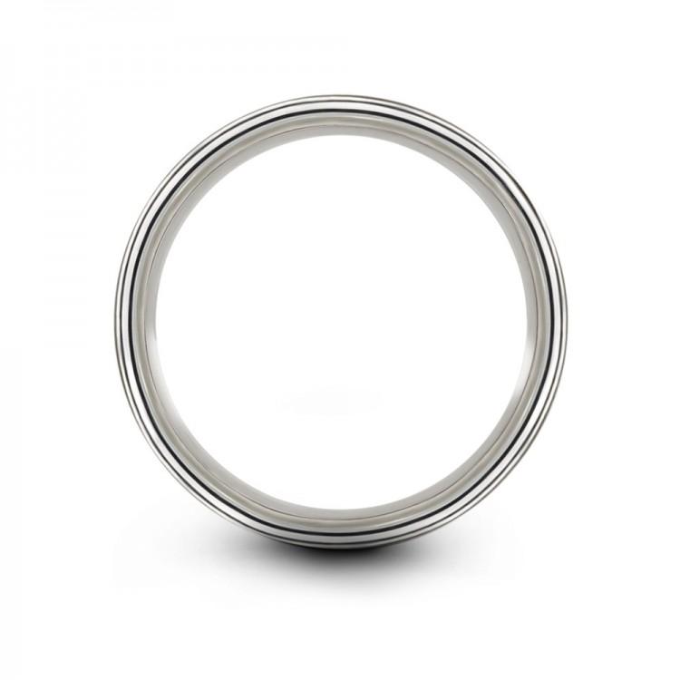 Galena Gray Crimson Allure 8mm Vintage Wedding Ring