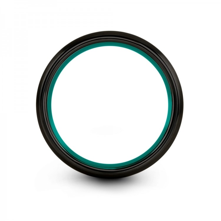 Galena Gray Dark Knight Aqua Teal 8mm Cheap Wedding Ring