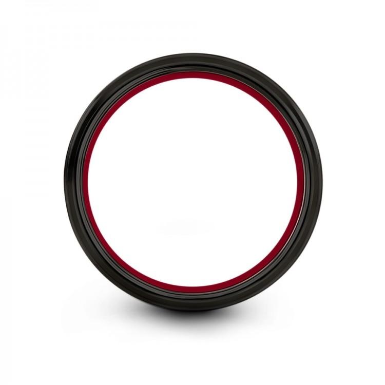 Galena Gray Dark Knight Crimson Allure 10mm Fancy Women Wedding Ring