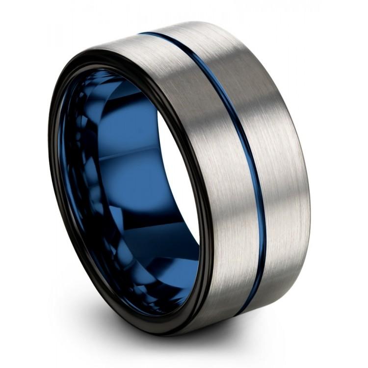 Galena Gray Dark Knight Empire Blue 10mm Black Wedding Ring