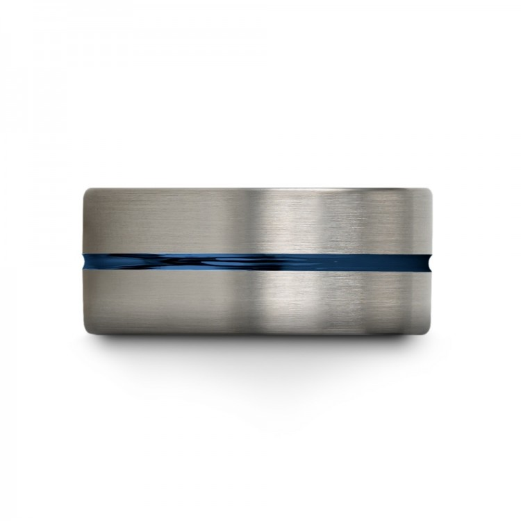 Galena Gray Dark Knight Empire Blue 10mm Cheap Wedding Ring