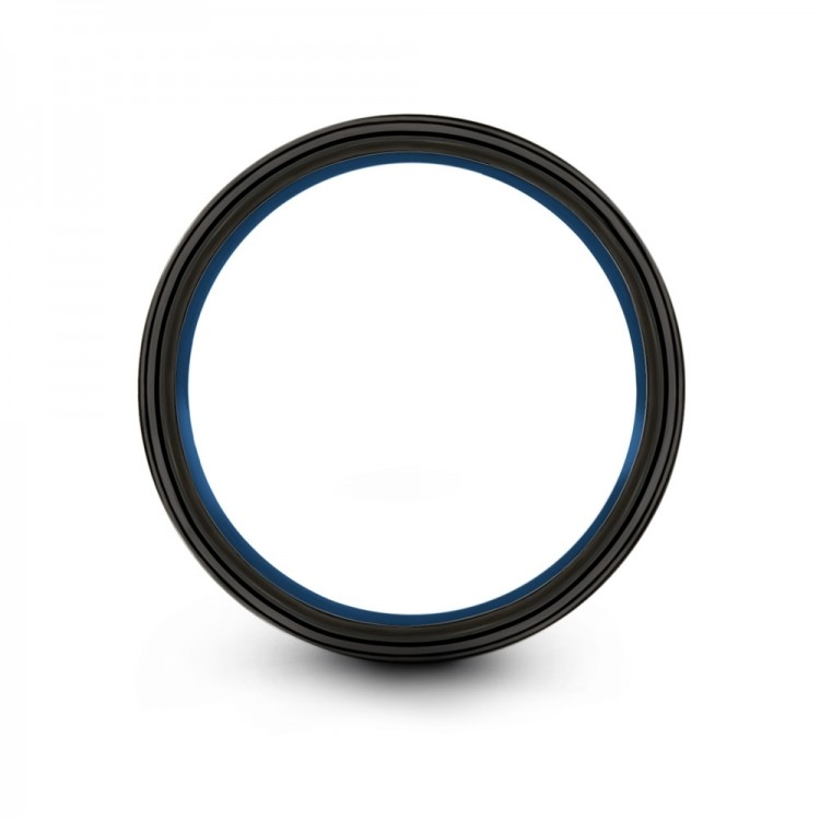 Galena Gray Dark Knight Empire Blue 10mm Women Wedding Ring