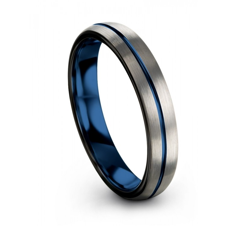 Galena Gray Dark Knight Empire Blue 4mm Wedding Band