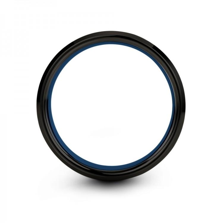 Galena Gray Dark Knight Empire Blue 6mm Women Wedding Ring