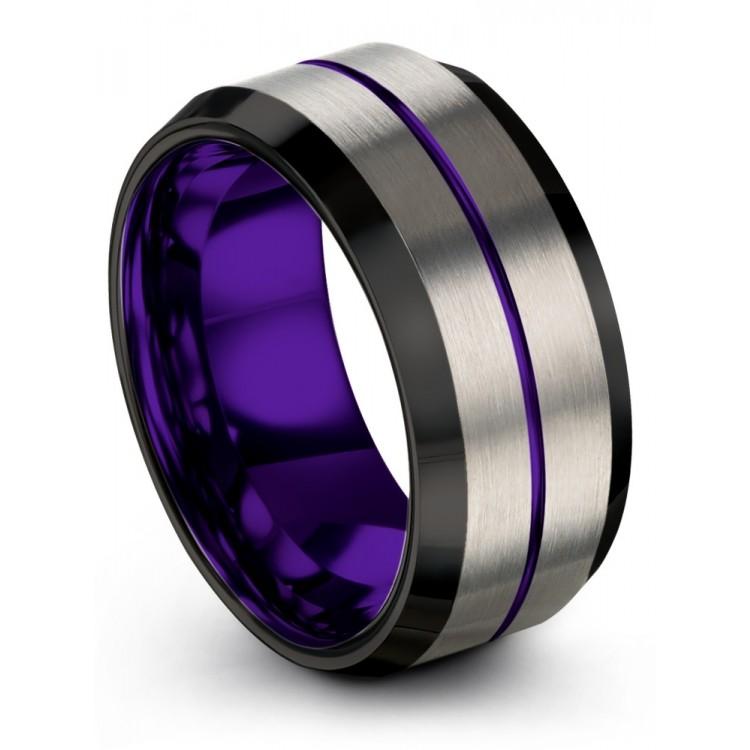 Galena Gray Dark Knight Royal Bliss 10mm Wedding Ring