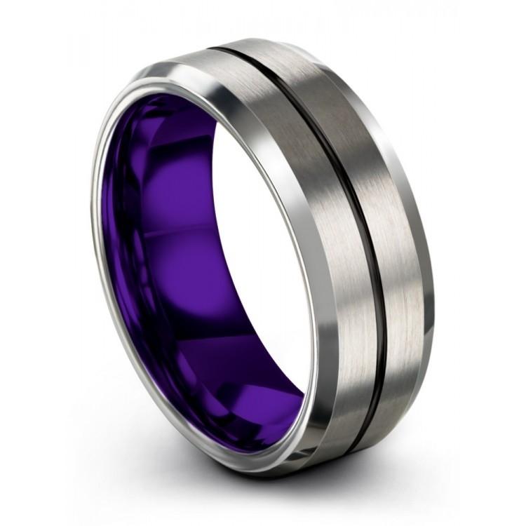 Galena Gray Dark Knight Royal Bliss 8mm Latest Wedding Ring