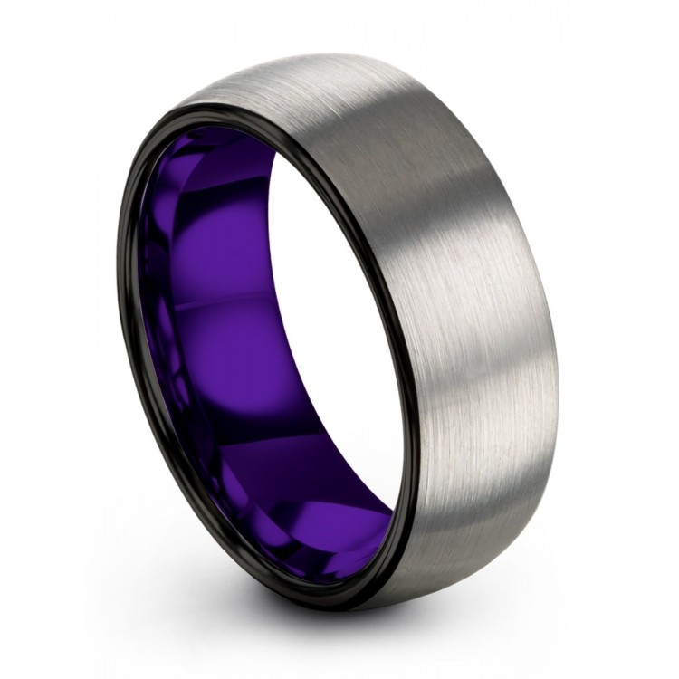 Galena Gray Dark Knight Royal Bliss 8mm Wedding