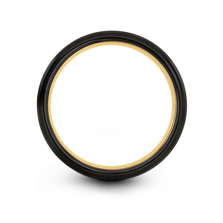 Galena Gray Dark Knight Yellow Gold 8mm Women Wedding Ring