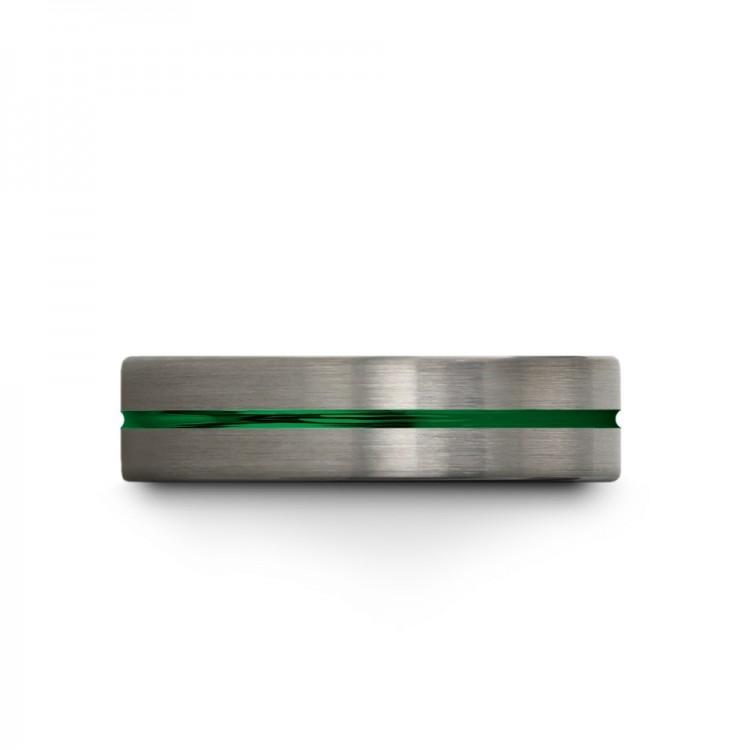 Galena Gray Emerald Zing 6mm Women Wedding Ring