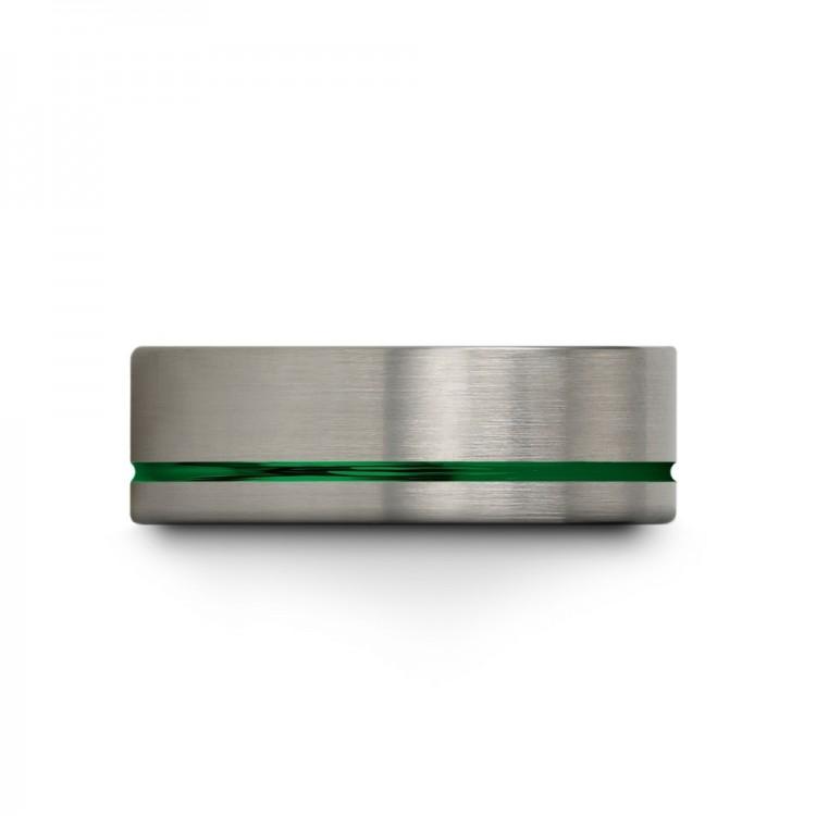Galena Gray Emerald Zing 8mm Fancy Women Wedding Ring