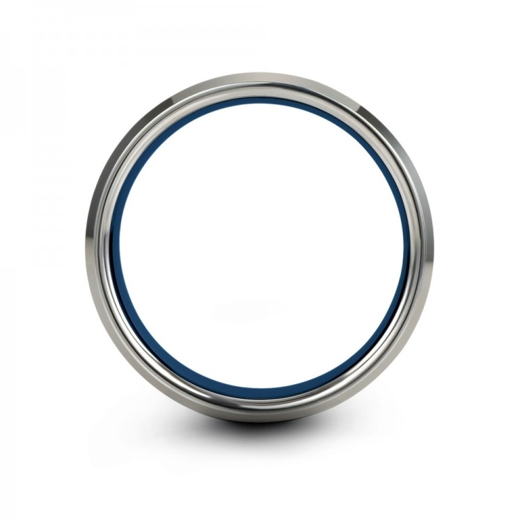 Galena Gray Empire Blue 6mm Wedding Band