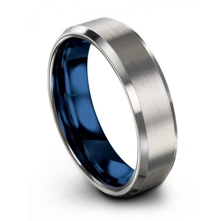 Galena Gray Empire Blue 6mm Wedding Ring