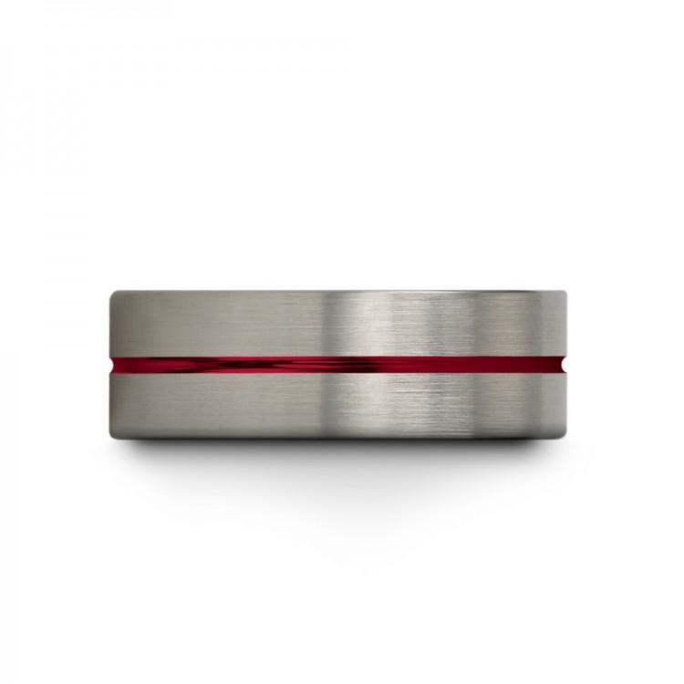 Galena Gray Empire Blue Crimson Allure 8mm Couple Unique Wedding Rings
