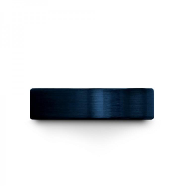 Galena Gray Empire Blue Royal Bliss 6mm Unique Wedding Ring