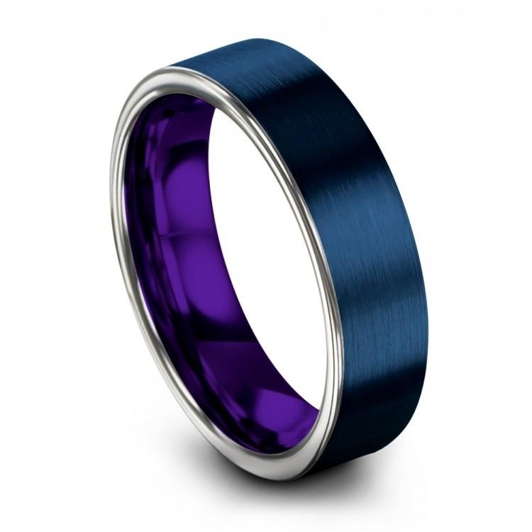 Galena Gray Empire Blue Royal Bliss 6mm Wedding Ring
