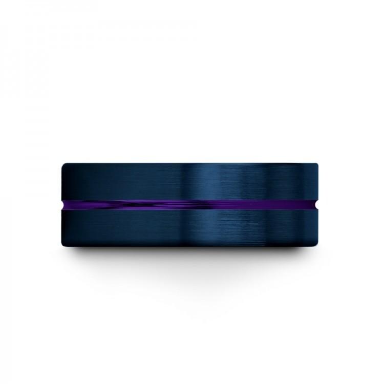 Galena Gray Empire Blue Royal Bliss 8mm Unique Wedding Ring