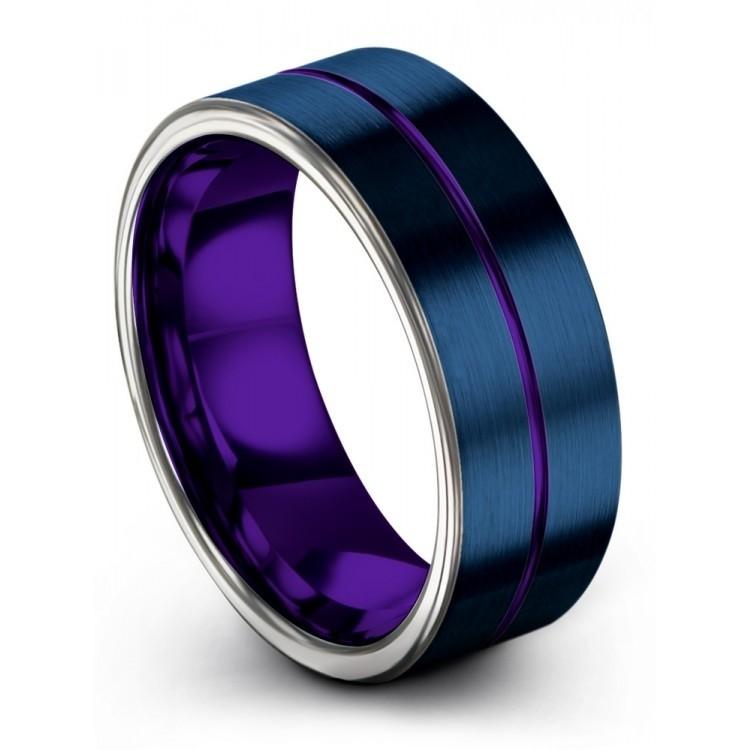 Galena Gray Empire Blue Royal Bliss 8mm Wedding Ring