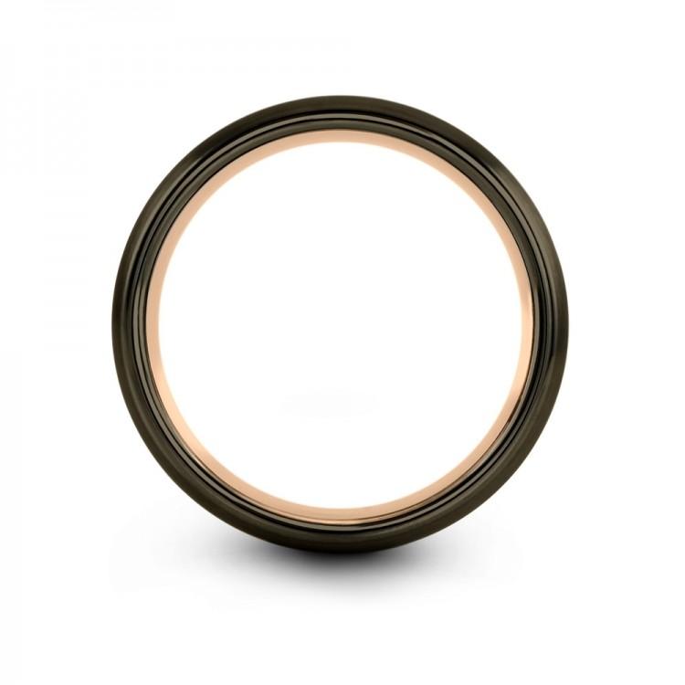 Galena Gray Moonlit Graphite Rose Gold 8mm Latest Wedding Rings