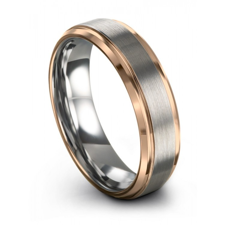 Galena Gray Rose Gold 6mm Wedding Ring