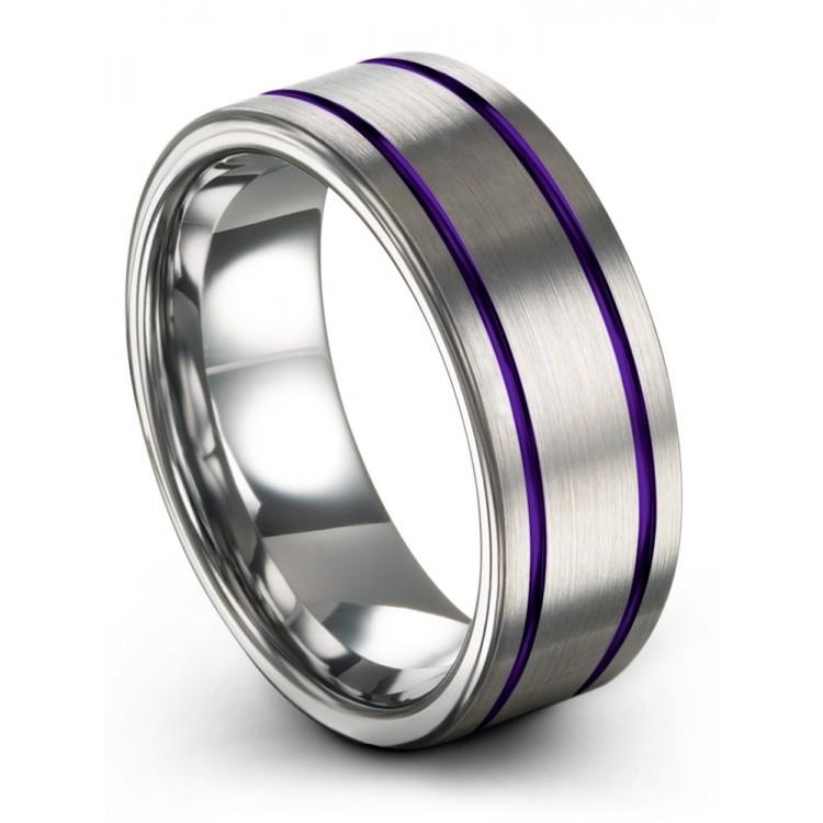 Galena Gray Royal Bliss 8mm Chroma Wedding Ring