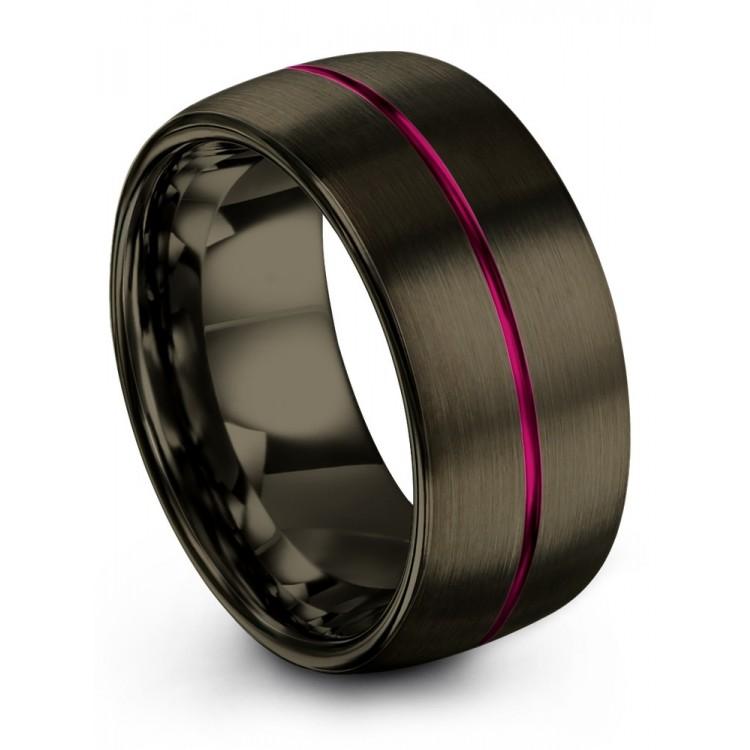 Moonlit Graphite Cosmic Flare 10mm Wedding Ring