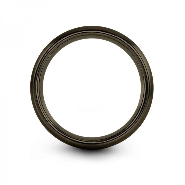 Moonlit Graphite Cosmic Flare 10mm Women Wedding Ring