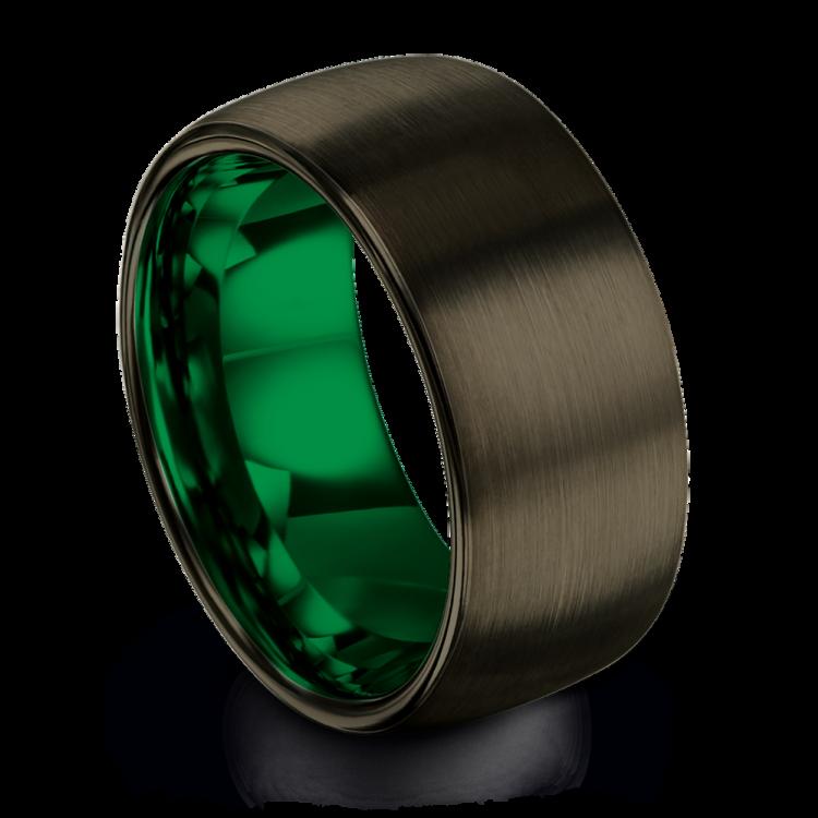 Moonlit Graphite Emerald Zing 10mm Latest Wedding Ring