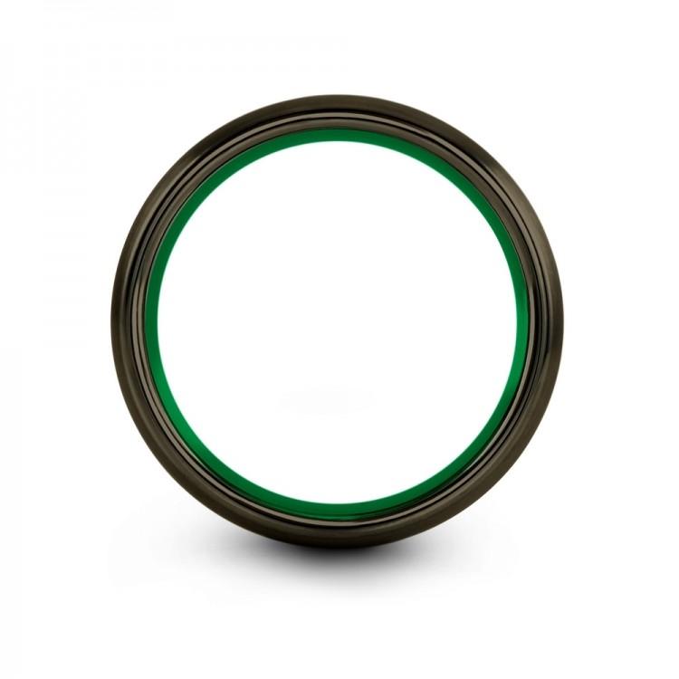 Moonlit Graphite Emerald Zing 10mm Latest Women Wedding Ring