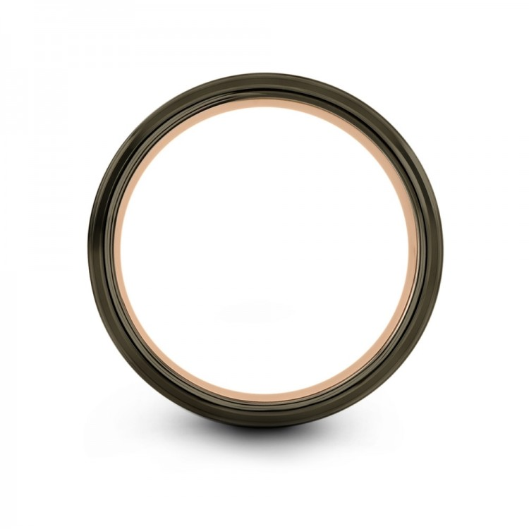 Moonlit Graphite Galena Gray Rose Gold 6mm Cheap Wedding Ring