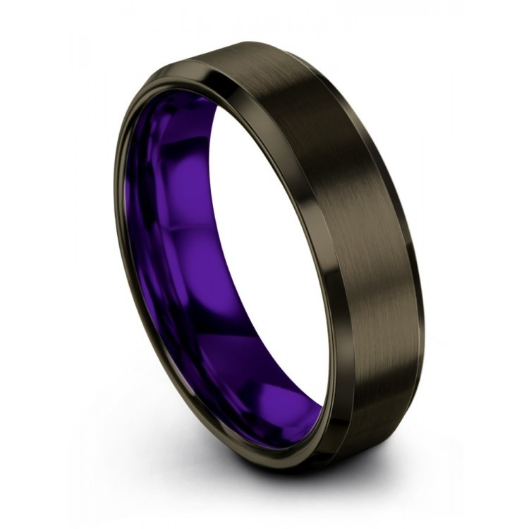Moonlit Graphite Royal Bliss 6mm Flare Latest Wedding Ring